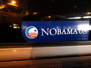 Racist NObama sticker
