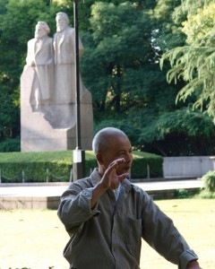 Marx, Engels, and Tai Chi at Fu Xing park, Shanghai
