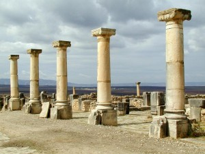 Volubilis columns, Morocco