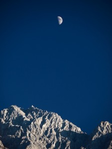 Moon setting over Tiger Leaping Gorge